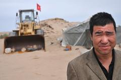 Raupenfahrer in der Wüste Gobi - Xinjiang, China