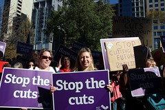 TStop the cuts - AFE teachers and students ral...