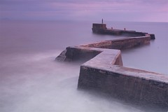 St Monans (Angela-Midlothian) Tags: pink blue sea st misty canon landscape scotland seascapes purple harbour north 600d monans