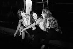 En las vías (María Granados) Tags: blackandwhite blancoynegro fashion night 50mm adolescente cigarette smoke smoking teen laugh teenager grayscale risa