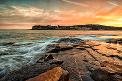~ S U R E F I R E ~ (James.Breeze) Tags: ocean sunset seascape beach water sunrise landscape rocks raw waves seascapes cloudy sydney australia nsw breeze reef saltwater northernbeaches ef1740mmf4lusm bestofaustralia jamesbreeze