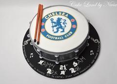 Drum birthday cake (CakeLand by Nivia) Tags: birthday boy woman man cakes girl cake children football chelsea child drum body science motorbike