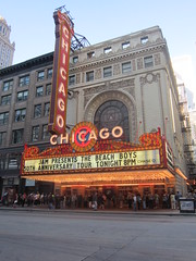 before the Beach Boys concert (stoneofzanzibar) Tags: chicago marquee beachboys chicagotheatre