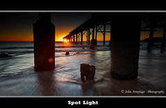 Spot Light (John_Armytage) Tags: ocean sea seascape sunrise star movement sand jetty wave australia nsw canon5d rays centralcoast sunstar catho catherinehillbay canon1635lf28 johnarmytage wwwjohnarmytagephotographycom