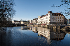 Gothenburg (xibalbax) Tags: city blue winter sky building canon reflections river sweden 7d 1755mm canoneos7d