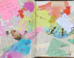 Visual Journal Page 60-School Year Wrap Up (whitneywpanetta) Tags: art collage paper book pages tissue journal craft bleeding visual artjournal craftproject bookpages bleedingtissuepaper