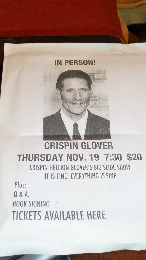 """crispin glover what is it essay American actor and director crispin glover, known best for his role as george mcfly (marty's father) in back to the future, published an essay in 2003 titled, """"what is it."""