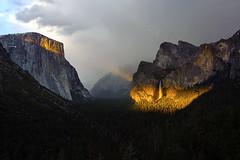 Yosemite light (Deby Dixon) Tags: california park travel light sunset storm mountains nature clouds landscape photography nationalpark nikon hiking yosemite yosemitenationalpark sierras deby allrightsreserved 2012 tunnelview debydixon debydixonphotography