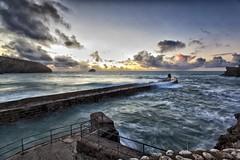 Spring Tide (Martin Mattocks (mjm383)) Tags: longexposure sunset sea seascape water clouds cornwall waves harbour portreath canoneos5dmarkii cornwalllandscapes mjm383 martinmattocksphotography