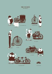 Meet The Cyclists (Jaakie201) Tags: bike bicycle wheel shirt illustration drive design cyclist ride bikes moto characters velo