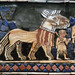The Standard of Ur, detail with horses walking (war)