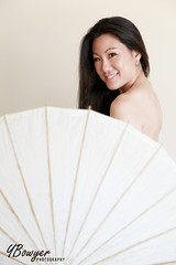 Paper Parasol (YBowyer Photography) Tags: light woman sexy beautiful smile canon dark nude artistic sweet naturallight parasol beautifulwoman canon5d paperparasol 5dmarkii