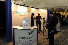 Yousendit Booth (E2 Conference) Tags: boston expo conference 20 enterprise e2 yousendit ubm mobileconnect techweb