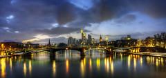 Skyline Frankfurt (rawshooter72) Tags: panorama skyline night frankfurt hdr