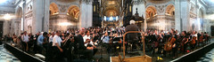 One orcherstra, two choirs, 200 musicians (Steve Bowbrick) Tags: panorama cathedral pano stpauls bbc requiem conductor iphone radio3 berlioz liveinconcert londonsymphonyorchestra colindavis londonsymphonychorus londonphilharmonicchorus messedesmorts