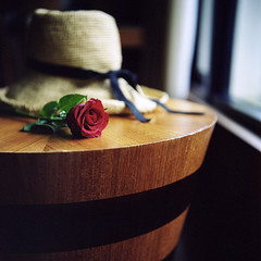 Thanks, Flickr* (miki**) Tags: travel red 120 hat rose thanks flickr taiwan wulai   rolleiflex35f room501 rolleiner2