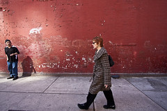 New York City (Bravo213) Tags: street york nyc red urban woman man wall naked nude walking candid bare spy cy henricartierbresson new city tcf streetphotograph photography manhattan challengeyouwinner thechallengefactory hardcore herowinner
