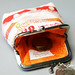 Selvedge frame purse - orange