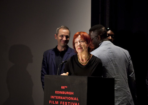 Penny Woolcock, James Purnell and the One Mile Away cast receive the Michael Powell Award at the 2012 EIFF Awards ceremony at the Filmhouse