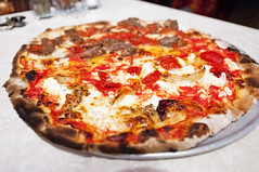John's of Bleecker Street - Tomato and Ricotta (nicknamemiket) Tags: nyc food ny newyork thedailyshow jonstewart restaurants pizza foodporn oldfashioned bleeckerstreet pizzapie foodphotography newyorkpizza  newyorkstylepizza johnsofbleeckerstreet nypizza   thedailyshowwithjonstewart restaurantphotography bleeckerstr iconicrestaurants johnsofbleeckerstreetbrickovenpizza johnsofbleeckerstreetpizzeria