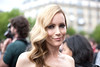 Leslie Mann Paris Fashion Week Fall / Winter 2013 - Armani Couture - Celebrity Arrivals Paris, France