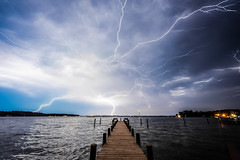 Lightning Over Fishing Bay - Deltaville, VA (jon_beard) Tags: storm water weather night clouds boats bay pier dock va electricity lightning chesapeake deltaville