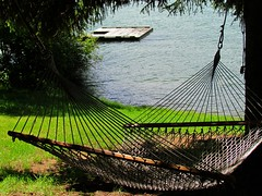 Hammock with a Lake View (5of7) Tags: hammock sling fabric rope netting suspended between swinging sleeping resting woven twine stretched ropes trees symbol summer leisure relaxation easyliving lake raft naturallight naturalframing availablelight challengewinner lazy peaceful empty july 2012 cy2eligible a3b relax manmade 11wins 10wins fav rural exposure serene wonderful well captured inviting beautiful natural framed seethrough water 2fav stuckonart stroybookwinner gamewinner