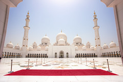 Sheikh Zayed Grand Mosque (TheFella) Tags: travel sky sun white slr architecture digital photoshop canon eos photo high asia day dynamic muslim islam capital middleeast entrance grand mosque emirates abudhabi photograph arab dome processing 5d daytime arabian dslr range emirate unitedarabemirates hdr highdynamicrange islamic persiangulf mkii markii sheikhzayed grandmosque sunni postprocessing travelphotography photomatix zayedbinsultanalnahyan arabianpeninsula westasia   sheikhzayedmosque westernasia thefella sheikhzayedgrandmosque 5dmarkii conormacneill   thefellaphotography alimrtalarabyahalmuttaidah fatherofdeer