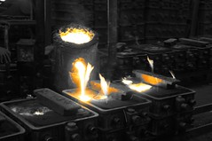 Foundry Visit - 150 (Rajesh_India) Tags: red india hot industry metal foundry melting iron industrial factory sony workshop hyderabad pour liquid casting molten