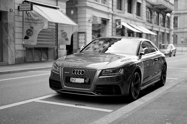 auto bw car schweiz zürich 2012 sep2 50lux flickraward audirs5 ©toniv 120715 leicam9 l1008049