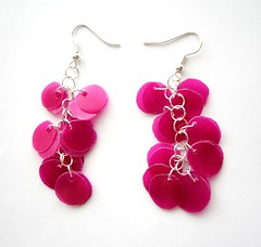 Pink fabulous earrings (d'ekoprojects) Tags: pink jewelry earrings ecofriendly handmadejewelry handmadeearrings recycledjewelry ecofriendlyjewelry upcycledjewelry