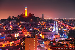 Telegraph Hill (James Neeley) Tags: sanfrancisco california nightphotography coittower telegraphhill jamesneeley flickr26