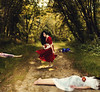 Revenge of Snow White (AmyJanelle) Tags: red yellow forest photography gold princess bokeh path magic disney revenge apples poison conceptual snowwhite magical disneyprincess warmtones hahahahahah conceptualphotography bittenapples poisonedapples snowwhitephotography stalkeramy wouldyoulikeacaramelapple amyjanelle casualcreeping yourestandingtherelike ididnttellyouguysetoeattheapples ijusttoldyoutotastethem muahahahaaw
