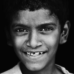 Unconditional Smile !!! (bmahesh) Tags: street portrait people blackandwhite india smile canon square expression streetphotography streetportrait canon5d chennai mahesh tamilnadu thirukazhukundram canoneos5dmarkii bmahesh