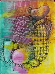 Wild Grapes and Cactus (molossus, who says Life Imitates Doodles) Tags: habana quovadis zentangle