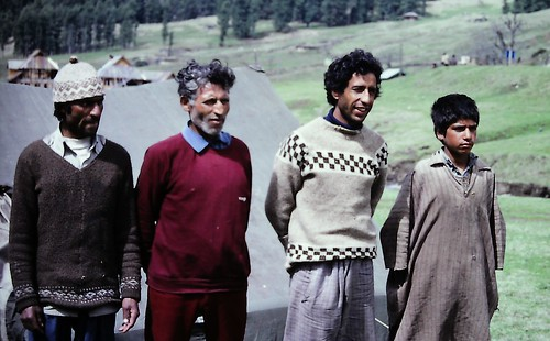 Trek team in Aru, Kashmir