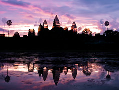 Angkor Wat at Sunrise (DMac 5D Mark II) Tags: camera travel family news tourism nature magazine lens asian fun photography photo newspaper yahoo google asia cambodia flickr foto photographer natural photos south photojournalism angkorwat korea tourists fotos getty southkorea jeju baidu reviews gettyimages photojournalist naver daum fredmiranda wwwfredmirandacom douglasmacdonald instagram thejejuweekly
