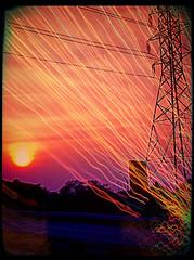 Sunset (Artondra Hall) Tags: pixlromatic hdrfx p powerlines sunset instagram colorful sky sun lightstream glenburniemaryland maryland route3 electric color sunsets eastcoastsunsets skywatcher sunsetsky sunsetshots sunsetsmadness sunsetseeker sunsetspotter sunsetscapes artondrahallphotography artondra artondrahall
