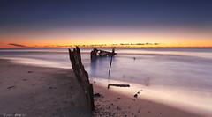 Sunrise caloundra (Unconcious Counterpoint) Tags: 2 beach canon photography eos filter lee 1740mm caloundra shipreck 5dmark 09hardgrad