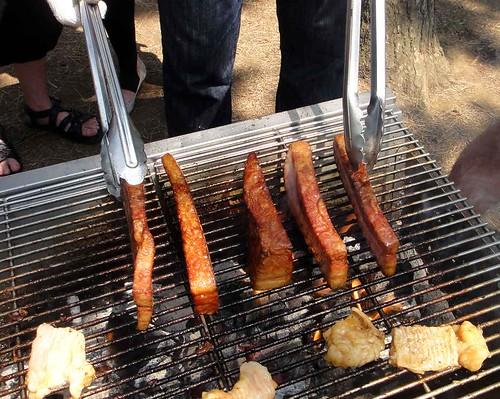 20120729お台場bbq〜bacon、立つ!