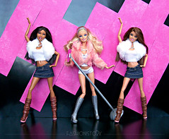 Barbie and The B.Girlz (fashionisto2k) Tags: dolls nikki barbie teresa mattel fashionistas f2k