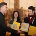 Mauricio Macri distinguió a alumnos premiados por la École National de Cirque de Montreal. (1 de 3)
