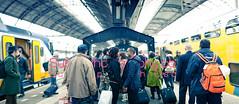 Ajay & Anisha (SunnyPhotography) Tags: wedding love netherlands station amsterdam standing asian photography couple shoot indian platform sunny pre trainstation netherland bridal hindu singh sundeep 60mp osahn