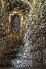 Fort Henry HDR (Ben_Senior) Tags: ontario canada wet dark nikon fort hallway stairway kingston hdr highdynamicrange vr forthenry 18200mm f3556g hdrphotography d90nikond90 bensenior