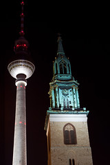 Berlin new and old (tony888vo) Tags: berlin tower tv german tvtower gemany berlinbynight germanybynight