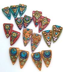 pennant bead group (SelenaAnne) Tags: polymerclay polyclay sculpey cernit fimo handmade bead