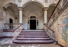 Beelitz Staircase (Planitzer Pictures) Tags: beelitz heilsttten lostplace exploring urban urbex decay abandoned verfall forgotten verlassen vergessen staircase stairs treppenhaus treppe hdr canon