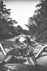 My Little Time Machine. (ehanoglu) Tags: firuze asya asyanostalji nostalji scooter motorcycle motorbike motor bike monochrome pan teknik technic blur forest road way istanbul turkey trkiye emrehanoglu emre emrehanolu exoticistanbul hanolu