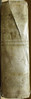 Flores Bibliae-Spine of vellum binding-1576 (melindahayes) Tags: 1576 bs399l31576 floresbibliae rouilléguillaume sixteenmoformat latin