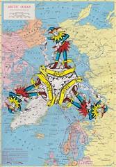 The Artic Ocean Jokers (Simon Vanheukelom _ Mixed Media) Tags: handmadecollage joker artic noth pole ocean playing cards simonvanheukelom papercollage